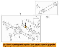 NISSAN OEM 04-07 Titan Rear Axle-Spacer 430707S200