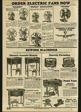 1932 ADVERT Gilbert Signal Victor R&M Electric Fan Fans Universal Vacuum Cleaner