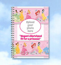 Personalised A6 Notebook Disney  Princess Notebook ADD your own photo and words