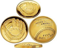 NEW 2014 W National Baseball Hall of Fame Gold PROOF $5 Coin (B31) HOF US Mint
