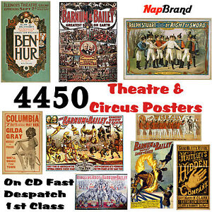 4450 Theatre & Circus Posters on CD