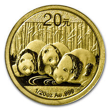2013 1/20 oz Gold Chinese Panda Coin - Sealed in Plastic