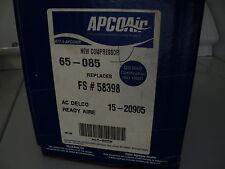APCO AIR AC COMPRESSOR W/CLUTCH ASSY NEW 65-085 TOYOTA 1986-01