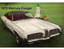 1970 Mercury Cougar Auto Refrigerator / Tool Box Magnet Man Cave Gift Item