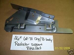 "MOPAR 26"" RADIATOR SUPPORT BRACKET 68-70 B BODY"