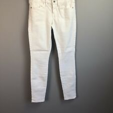GUESS Jeans  Skinny Size 24 Reg White Stretch Mid Rise