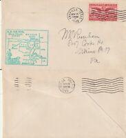 US 1949 AM 81 FIRST FLIGHT FLOWN COVER AMARILLO TEXAS TO TULSA OKLAHOMA