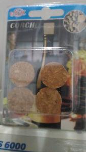 4 Tapones de corcho pequeño para botellas manualidades tapon corcho tapa botella