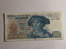 billet Belgique 500 Francs 02-04-1975