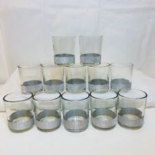12 Votive Candle Holders Silver Sparkly Band at Bottom Wedding Party Elegant