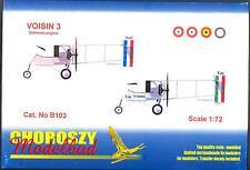 Choroszy Models 1/72 VOISIN 3 French WWI Bomber with Salmson Engine