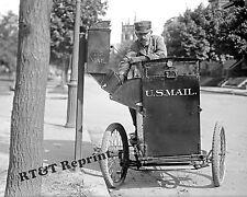 Photograph Vintage Post Office Mail Box Pickup Bicycle Washington DC 1912 8x10