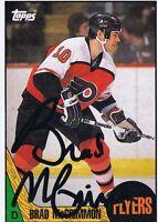 Brad McCrimmon 1986 Topps Autograph #85 Flyers