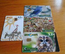 4 tarjetas telefonicas