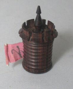 RARE Georgian CHESS CASTLE RosE WooD TAPE MEASURE;Original RaRe ANTIQUE c1800's