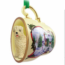 Soft Coated Wheaten Christmas Teacup Ornament