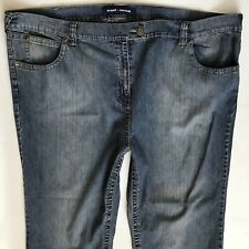 BNWT LADIES EVANS STRAIGHT BLUE STRETCH JEANS SIZE 28 S (375)