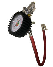 """Tire Inflator with Gauge 16"""" Rubber Hose with Clip on Connector 0-175 P.S.I."""