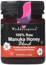 Wedderspoon Manuka Honey Blend 100% Raw Premium 8.8 Ounces (250 g) Unpasteurized
