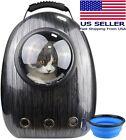 Cat Pet Carrier Travel Backpack Bubble Bag Space Capsule w/ Ventilation + Bowl