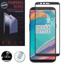 """Cristal blindado para OnePlus 5t a5010 6.01"""" real vidrio lámina protectora de pantalla negro"""