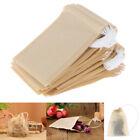 100X sachets de thé en papier vides filtrent les sachets de thé à cordon pourW1F