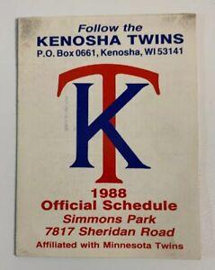 1988 Kenosha Twins Baseball Pocket Schedule Old Style Beer WI Minor League