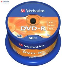 Verbatim Dvd-R 4.7gb Go 16 X Vitesse 120min Enregistrable Disque DVD Broche Pack