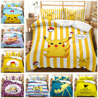 Pokemon Pikachu Collection Single/Double/Queen/King Bed Quilt Cover Set #2