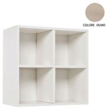 Pensile GEO CUBO sospeso con anta e ripiano interno, bianco