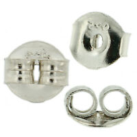 Sterling Silver 925 Replacement Single Friction Push Back for Stud Earrings USA
