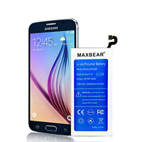 MAXBEAR 2550mAh Replacement Battery for Samsung Galaxy S6 SM-G920 with Free Tool