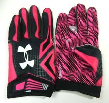 Ua Under Armour Swarm Nfl Issued 3Xl Adult Receiver Football Gloves Pink Bca