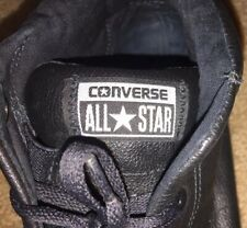 Converse All Star Chuck Taylor Black Leather Sneakers Men Size 11