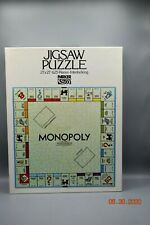 "Vintage Monopoly Jigsaw Puzzle Parker Brothers 21""x21"" 625 Pieces Complete 1970s"