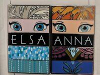 Disney Frozen Poster Elsa And Anna Two Pin Set