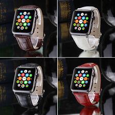 Genuine Leather Buckle Wrist Watch Band Belt for iWatch Apple Watch 38mm 42mm