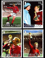 Bobby Moore World Cup 1966 set of 4 stamps mnh 2002 Gibraltar #905-8