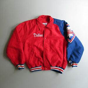 Vintage Philadelphia Phillies Baseball Starter Jacket S Small