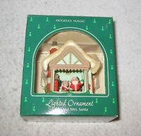 Christmas Tree Decoration Lighted Ornament Mr. and Mrs. Santa House Hallmark