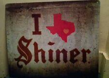 Shiner Texas tin sign