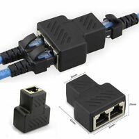 1 to 2 LAN ethernet Network RJ45 Splitter Extender Plug Adapter Connector WAN LI