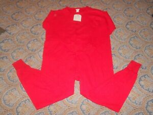 DUOFOLD Men's Mid Weight Double Layer Red Union Suit XL