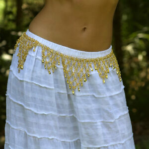 Metal Quality Gold Bells Dancing Belt Belly Dance or Bollywood Devs Costumes