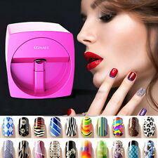 24W Nail Pattern Printing Manicure Machine Stamp Plate Drawing Polish Rose Red