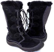 PRIVO by Clarks Black Suede Faux Fur Winter Boots Women's US Shoe Size 7.5M