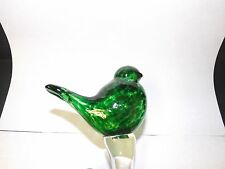 New listing Boyce Art Green Glass Bird Stake Lawn Garden Ornament Decor