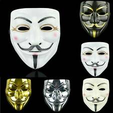 Anonymous Hacker V For Vendetta Guy Fawk Fancy Dress Halloween Face Mask Props