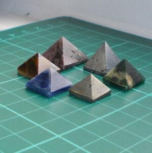 Auction 6 x Crystal Pyramid Genuine Gemstone for Healing (3)