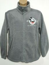 Disneyland Resort Paris Full Zip Fleece Jacket Grey Size L Micky Mouse 1928